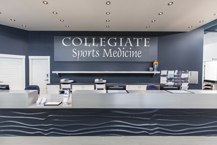 Collegiate Sports Medicine reception desk
