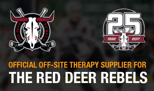 Official Off-Site Therapy Supplier for the RED DEER REBELS