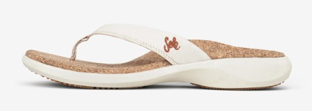 Sole Cork Flip Sandal white