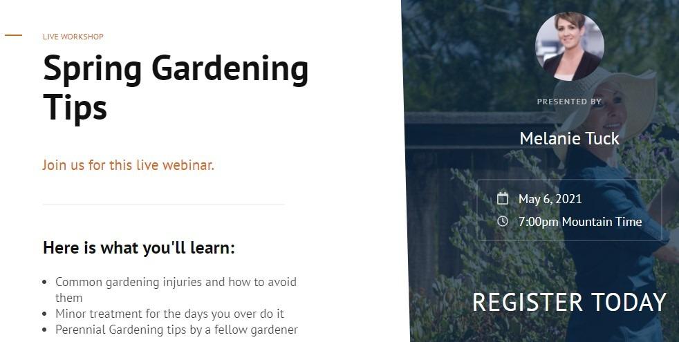 spring gardening tips webinar