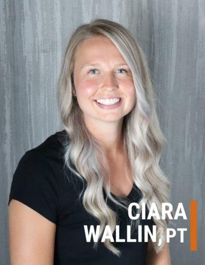 Ciara Wallin Physiotherapist Collegiate Sports Medicine